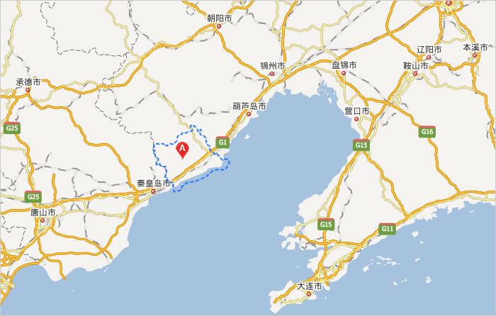 葫芦岛到绥中高速地图